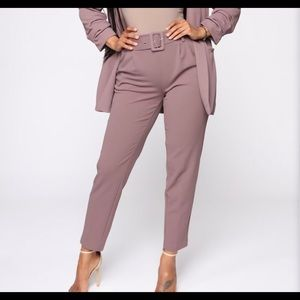 Nwt Thalia Belted pants Dusty-Purple